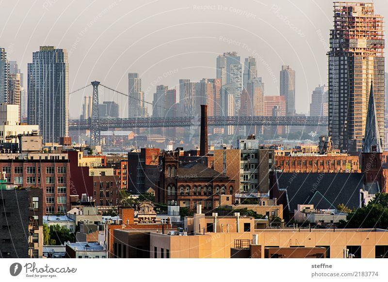 from Queens 06 New York City USA Brooklyn High-rise Skyline Summer City life Williamsburg Williamsburg Bridge