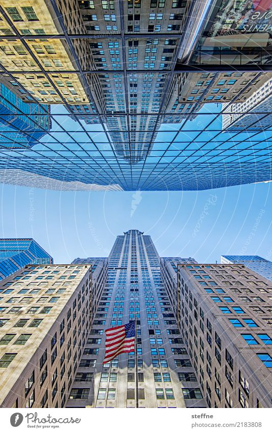 View upwards 6 New York Manhattan High-rise Worm's-eye view Tall Facade Midtown Chrysler Building