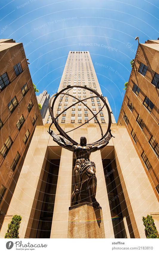 View upwards 4 New York City Manhattan High-rise Worm's-eye view Tall Facade Atlas