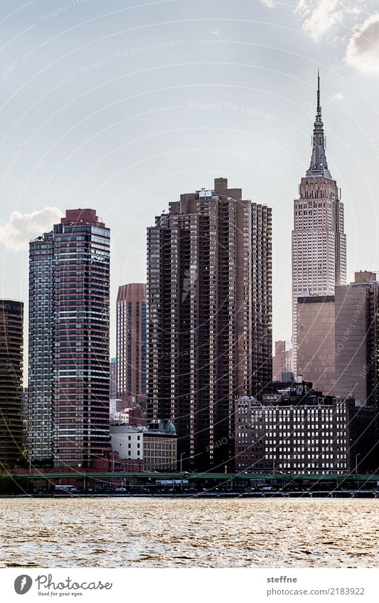 from Queens 10 New York City USA Manhattan High-rise Skyline Summer City life Back-light Empire State building