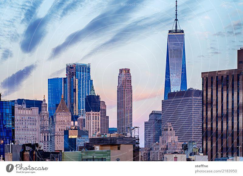 One World Trade Center 02 USA New York City Manhattan Landmark Tourist Attraction Terrorism Freedom High-rise Skyline Sunrise