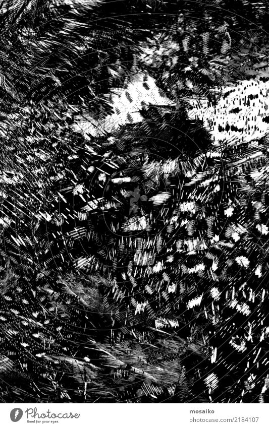 black pattern - abstract design Fashion Ornament Esthetic Dark Elegant Fantastic Hip & trendy Original Rebellious Trashy Wild Soft Black White Bizarre Chaos
