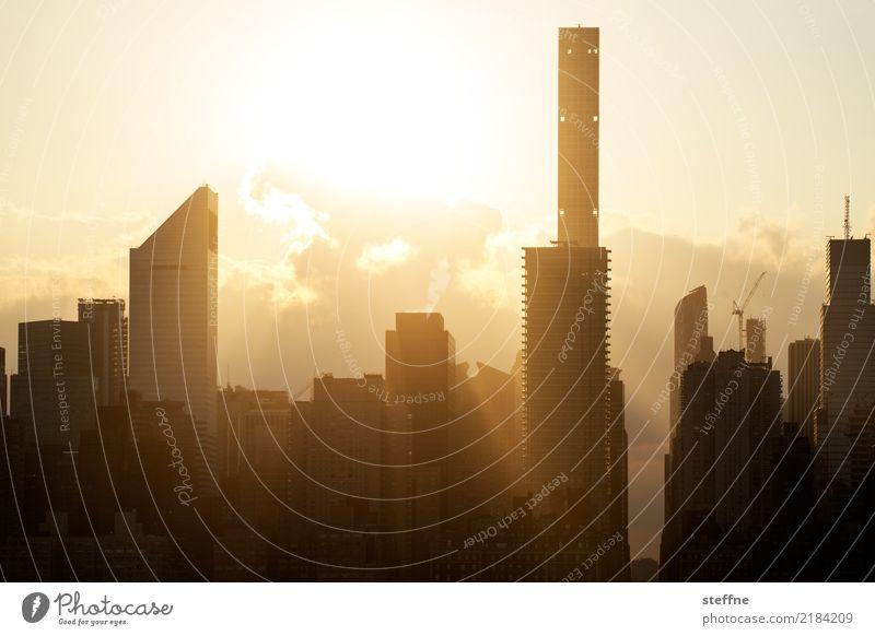 from Queens 02 New York City USA Manhattan High-rise Skyline Summer City life Sunset