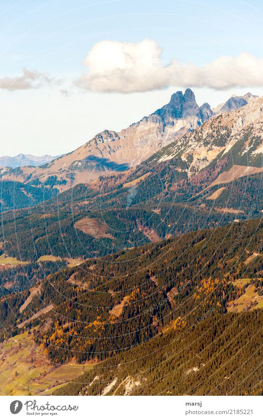 Bishop's cap with hat Vacation & Travel Tourism Trip Freedom Mountain Hiking Nature Sky Clouds Autumn Beautiful weather Alps bishop's mitre