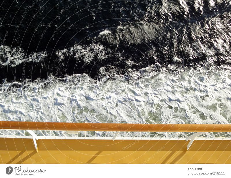 Nature Water Ocean Yellow Watercraft Bright Waves Environment Wet Natural Navigation Baltic Sea Handrail Foam Ferry Deck