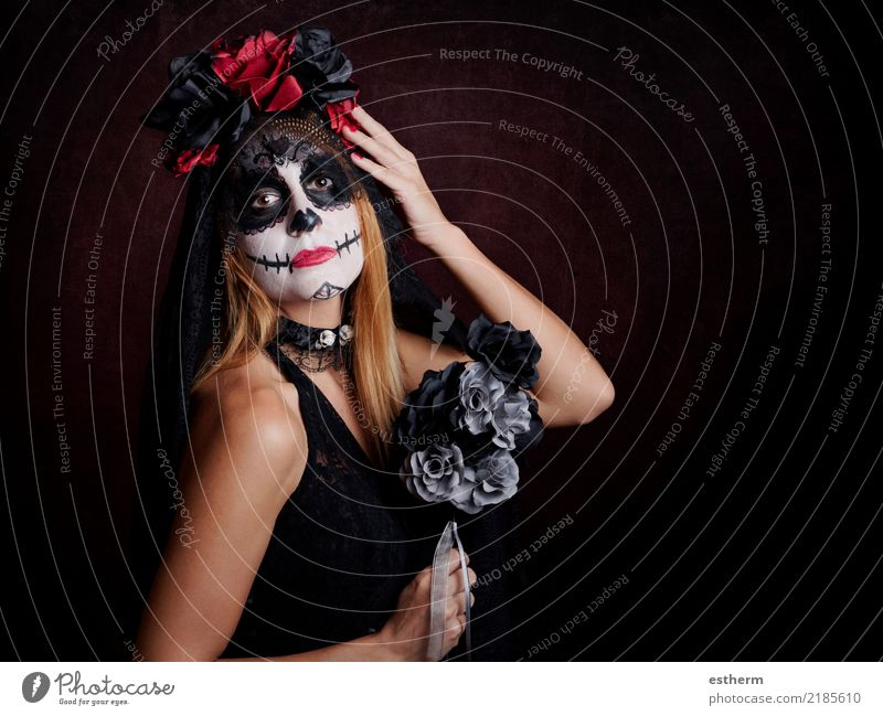 young woman in halloween costume Lifestyle Entertainment Party Event Feasts & Celebrations Hallowe'en Human being Feminine Young woman Youth (Young adults)