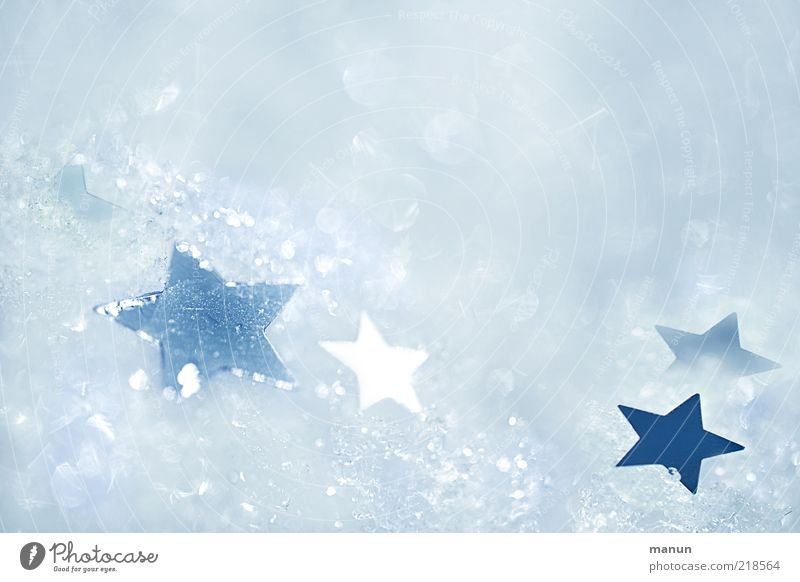 Christmas & Advent Beautiful White Winter Cold Snow Ice Bright Feasts & Celebrations Glittering Background picture Star (Symbol) Frost Kitsch Sign