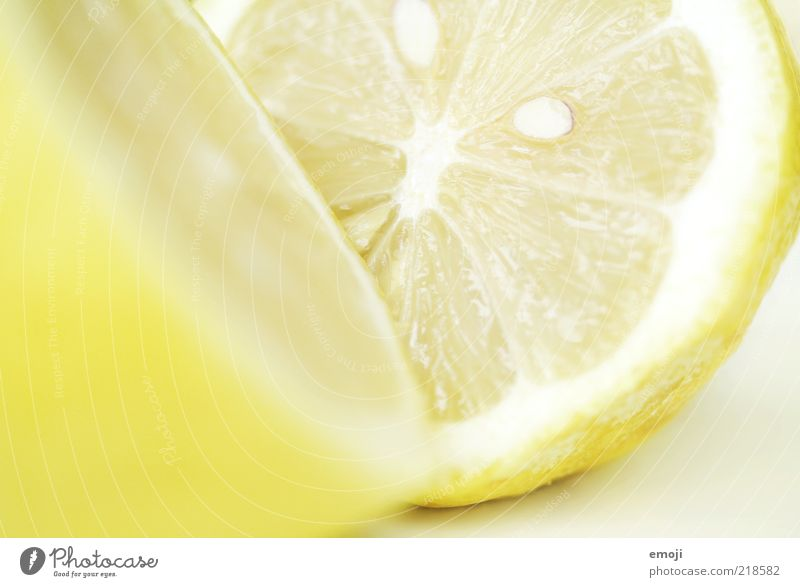 Nutrition Yellow Bright Fruit Fresh Division Half Kernels & Pits & Stones Lemon Partially visible Section of image Sour Fruity Citrus fruits Sliced Vitamin-rich