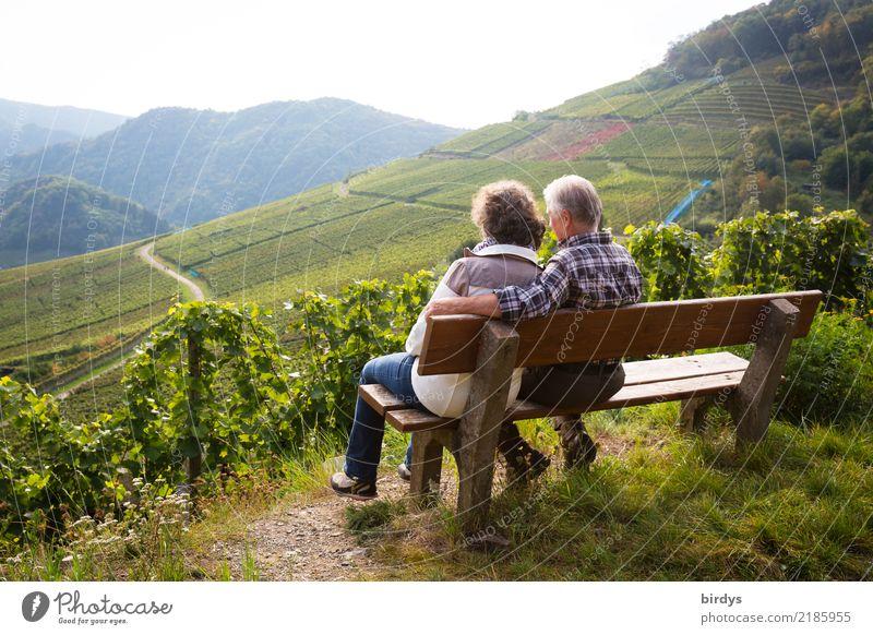 Enjoy together Well-being Calm Trip Masculine Feminine Female senior Woman Male senior Man Couple Senior citizen 2 Human being 60 years and older Summer