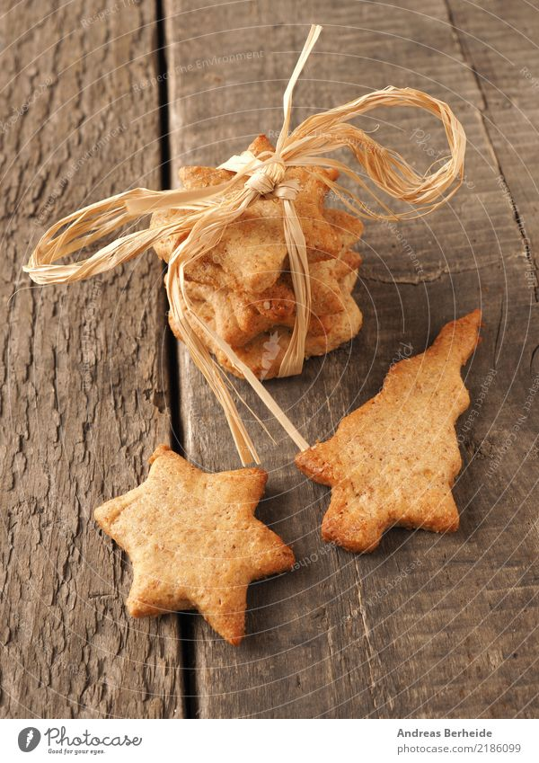 Christmas biscuits Dough Baked goods Cake Candy Organic produce Winter Feasts & Celebrations Christmas & Advent Delicious Sweet Brown Gold Creativity Cookie