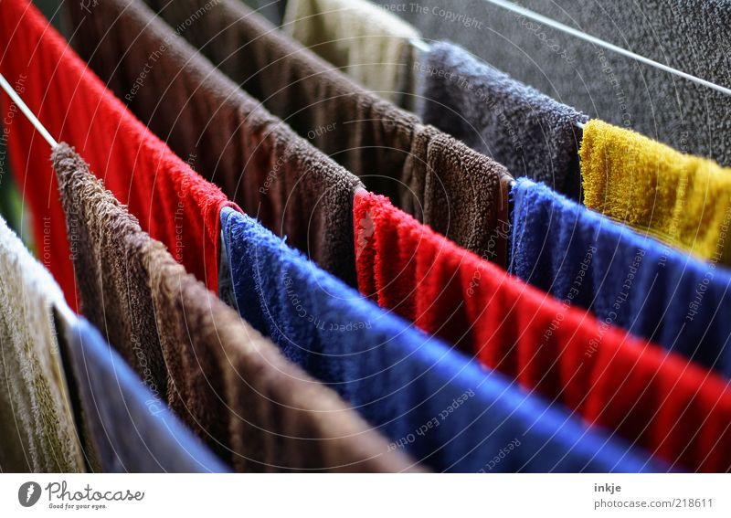 Terrycloth 60°. Fragrance Summer Living or residing Balcony Clothesline Towel Terry cloth Dry Soft Blue Brown Multicoloured Yellow Red White Colour Cotheshorse