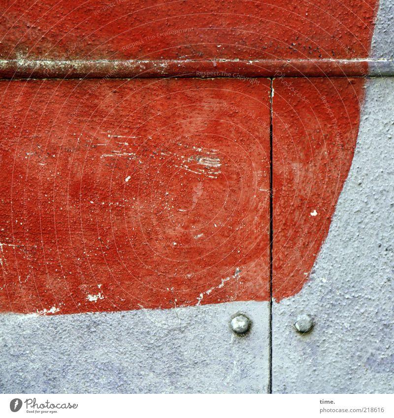 White Red Colour Line Art Dirty Door Open Curve Go up Screw Column Horizontal Copy Space Stud Slit