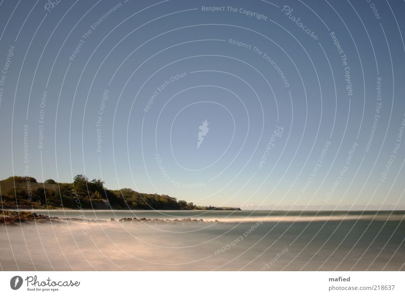 Fifteen seconds sea Beach Ocean Waves Environment Nature Landscape Air Water Sky Cloudless sky Beautiful weather Coast Baltic Sea Blue Gray White Colour photo