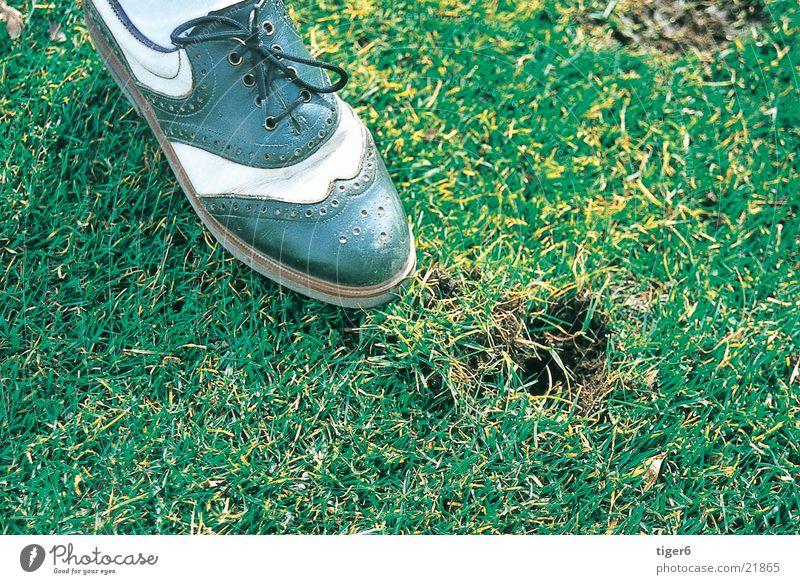 Shoe in the grass Grass Footwear Sports Golf divot