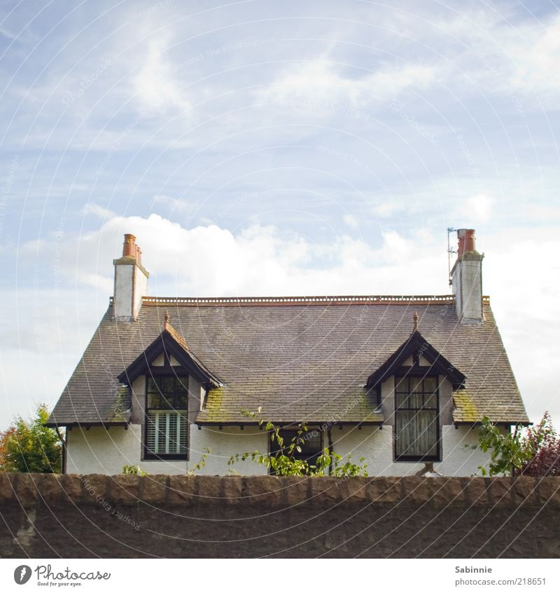 Neighbour's Cottage Luxury Sky Clouds Aberdeen Scotland House (Residential Structure) Dream house Building Architecture Window Door Roof Chimney Oriel window