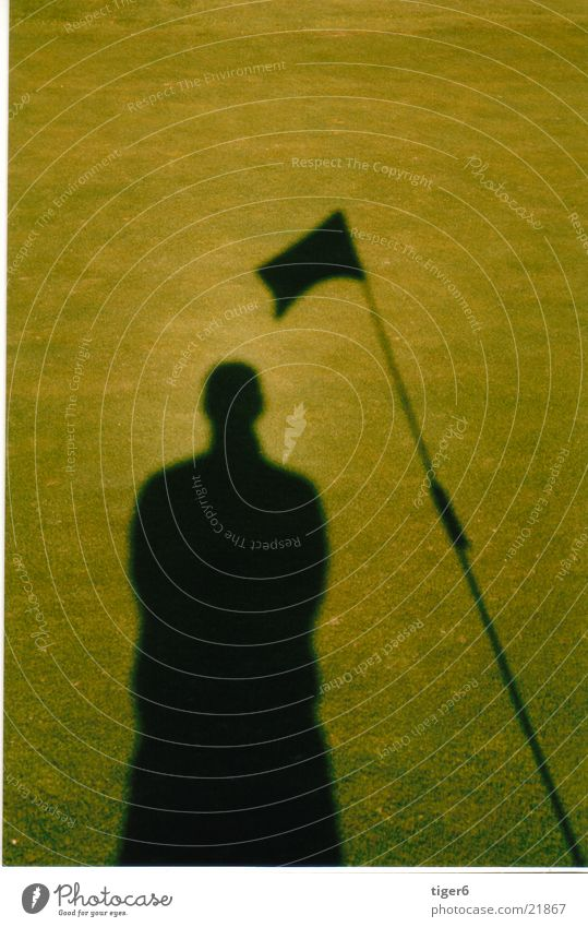 shadow golf Flag Shadow Sun siluhette Golf