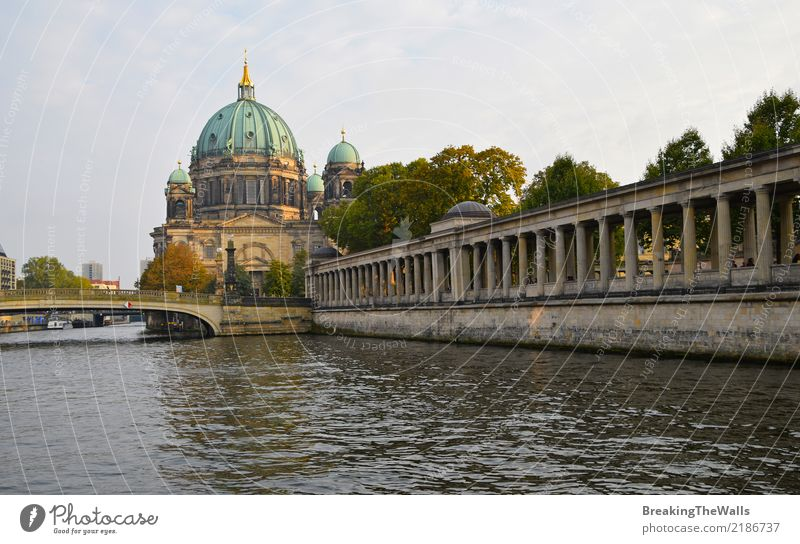 Berlin Cathedral (Berliner Dom) view with pillars of Museum Vacation & Travel Tourism Trip Sightseeing City trip Summer River Spree Museum island Colonnades