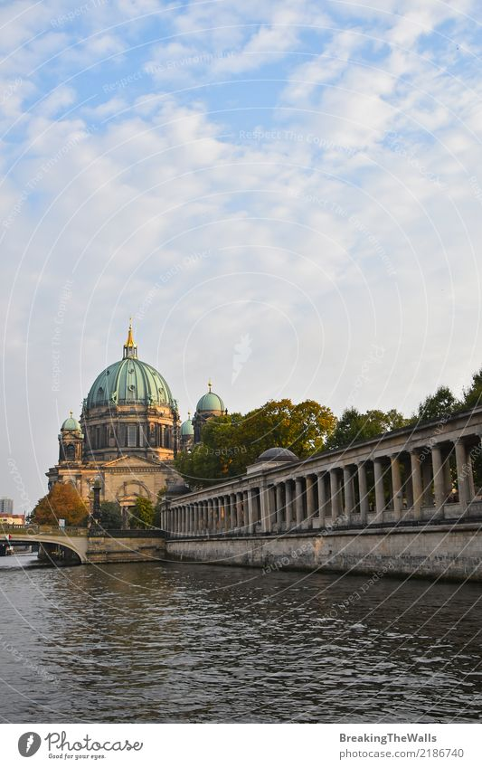 Berlin Cathedral (Berliner Dom) view with pillars of Museum Vacation & Travel Tourism Sightseeing City trip Architecture River Spree Museum island Colonnades