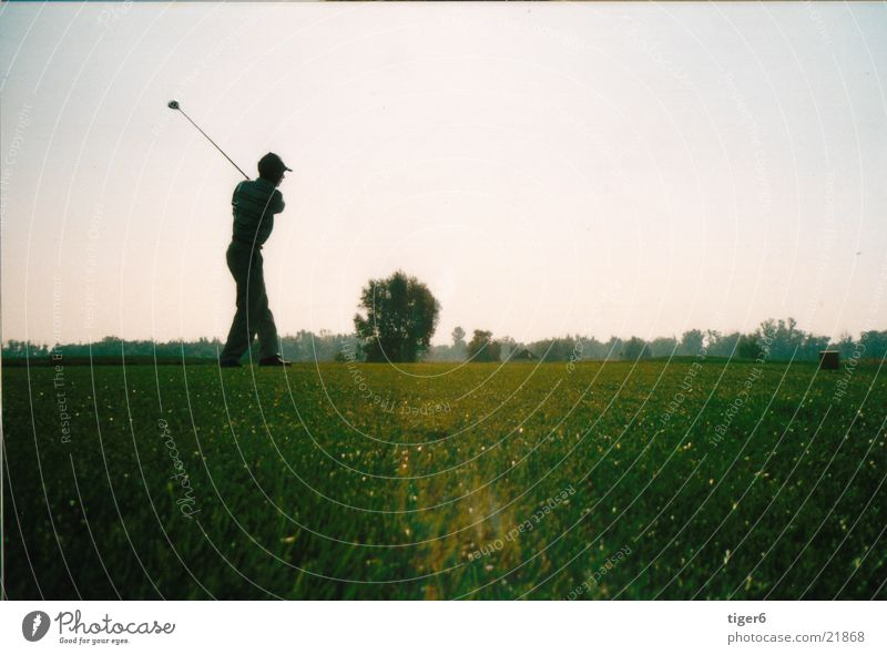 out in the evening Practice Sports Evening Golf Sports Training