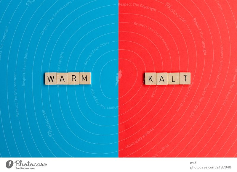 Warm / Cold Playing Characters Warmth Blue Red Climate Senses Argument Divide Irritation Change Converse Illogical Colour photo Interior shot Studio shot