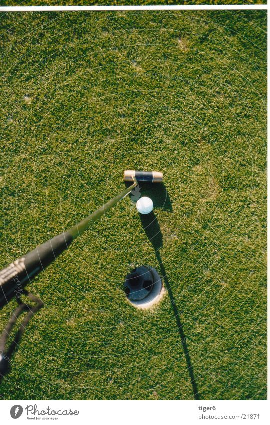 Hole from top Bird's-eye view Sports Golf Ball Arrest