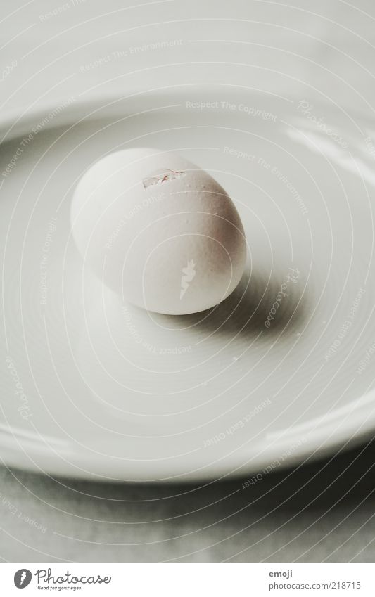 puristic Organic produce Crockery Plate Round White Oval Egg Crack & Rip & Tear Occur Birth Puristic Minimalistic Structures and shapes Eggshell Hen's egg Lime