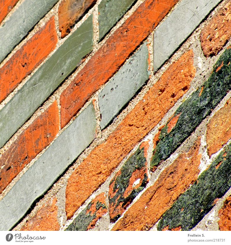 Old Red Calm Black Wall (building) Gray Wall (barrier) Line Brown Esthetic Authentic Simple Firm Brick Historic Seam