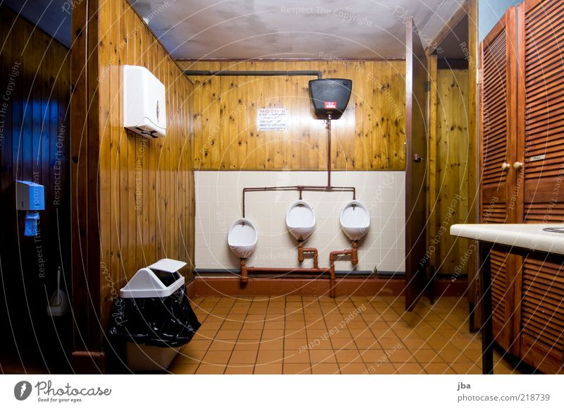 almost hibernation Camping site Interior design Toilet Urinal Wood Simple Brown White Colour photo Interior shot Deserted Artificial light Long exposure