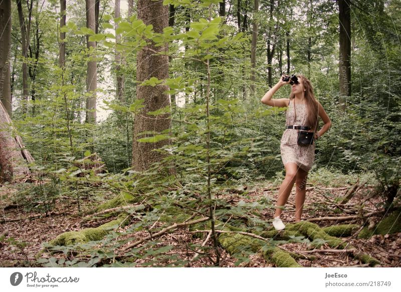 Woman Human being Nature Youth (Young adults) Beautiful Tree Plant Vacation & Travel Summer Adults Forest Life Freedom Leisure and hobbies Adventure Wild