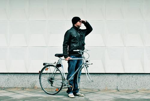 bike for your right Leisure and hobbies Human being Masculine Man Adults 1 30 - 45 years Transport Means of transport Traffic infrastructure Lanes & trails