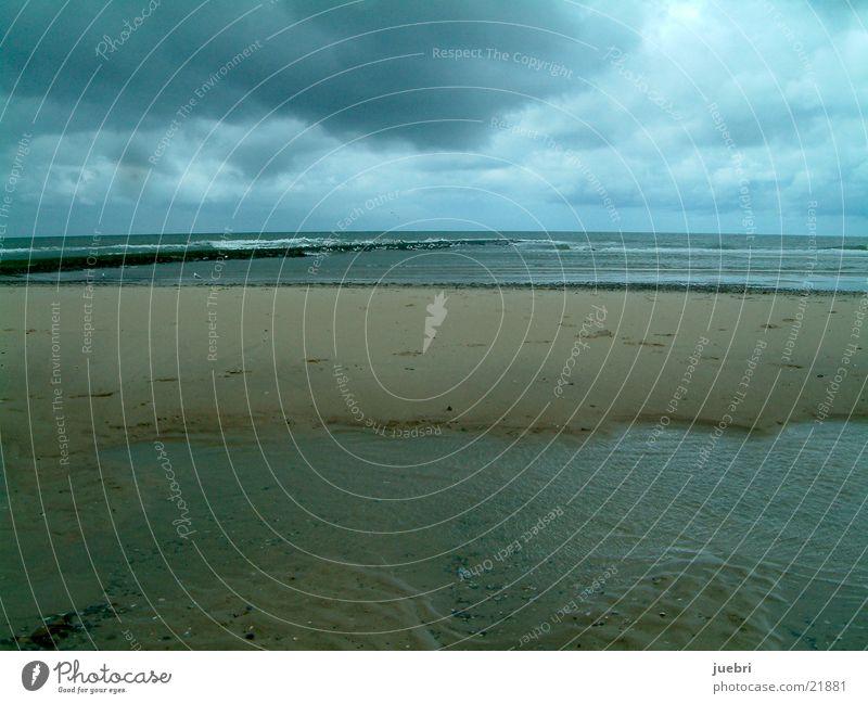 Dark clouds at the North Sea Clouds Beach Netherlands Storm Graffiti Sand