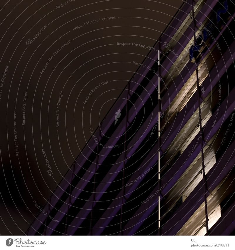 Through the night Town House (Residential Structure) High-rise Industrial plant Factory Manmade structures Building Architecture Wall (barrier) Wall (building)