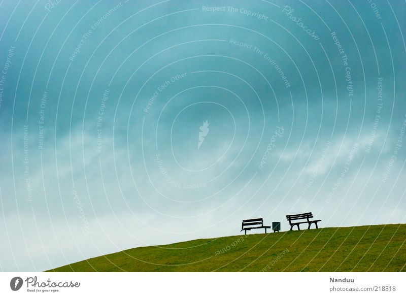 Sky Meadow Landscape Background picture Free Empty Bench Lower Saxony Seating Dike Clouds in the sky East Frisland
