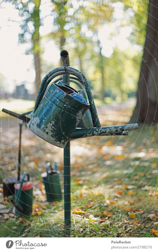 #AS# Cemetery Environment Esthetic Garden Watering can Jug Cast Park Colour photo Subdued colour Exterior shot Close-up Detail Experimental Abstract Deserted