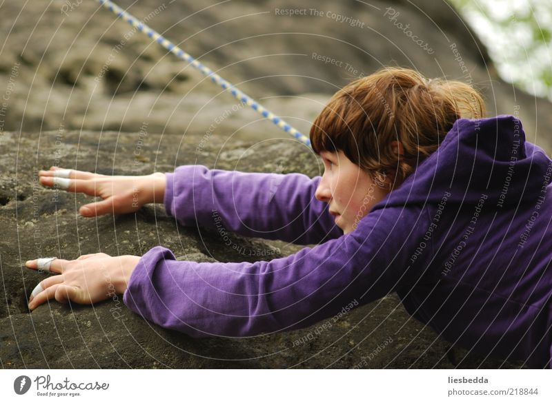 Human being Nature Youth (Young adults) Hand Adults Mountain Freedom Movement Sand Dream Rock Adventure Dangerous Fingers Rope 18 - 30 years