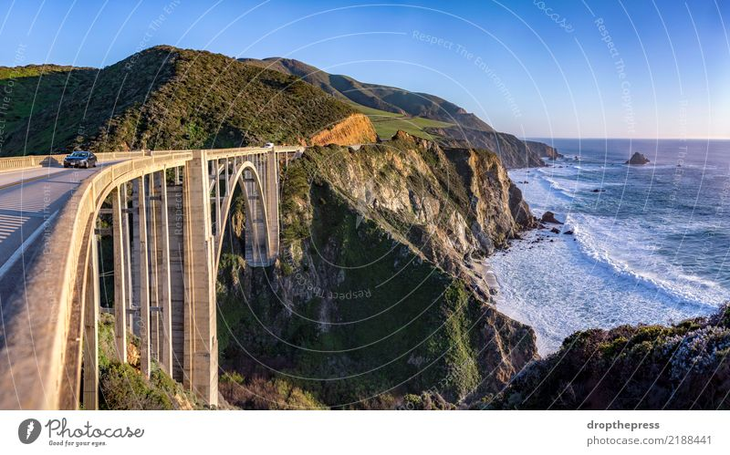 Bixby Bridge Panorama Beautiful Vacation & Travel Summer Beach Ocean Waves Mountain Nature Landscape Sky Clouds Hill Rock Coast Lake Architecture Street Highway