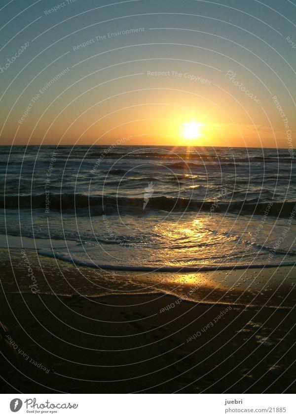 Sunset Beach Vertical Water North Sea