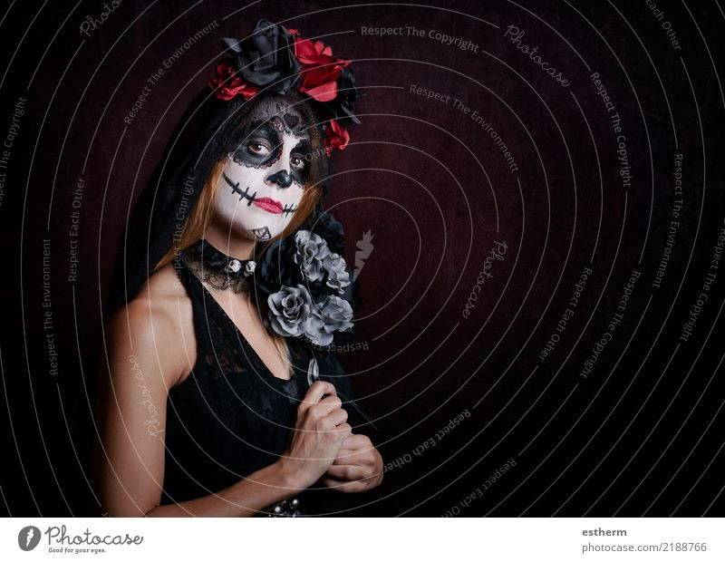 young woman in halloween costume Woman Human being Vacation & Travel Youth (Young adults) Young woman Beautiful Loneliness Adults Religion and faith Lifestyle