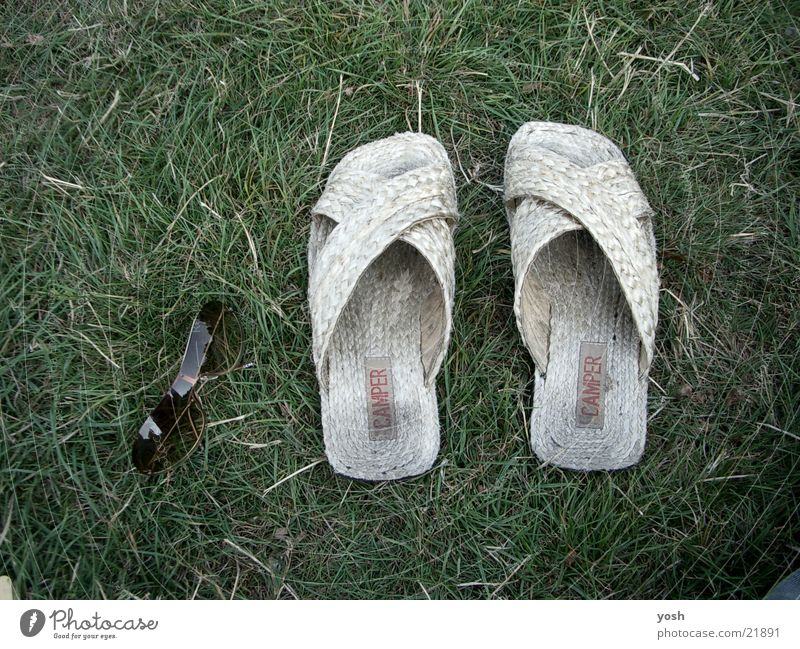 Green Summer Relaxation Meadow Grass Footwear Eyeglasses Leisure and hobbies Hot Sunglasses Sandal Photographic technology