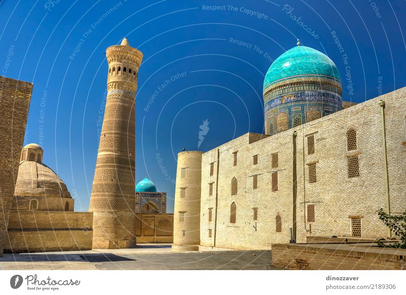 Kalyan minaret and Kalyan mosque, Bukhara Old Town Colour Architecture Religion and faith Style Tourism Design Decoration Large Asia Old town Tradition Middle
