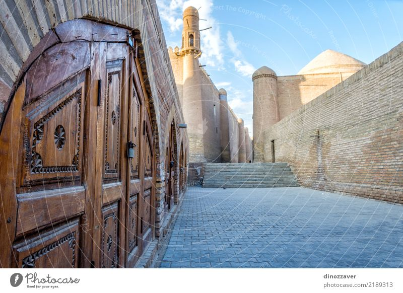 Khiva old town, Uzbekistan Style Design Tourism Decoration Art Town Old town Architecture Street Ornament Large Colour Religion and faith Tradition Islam Moslem
