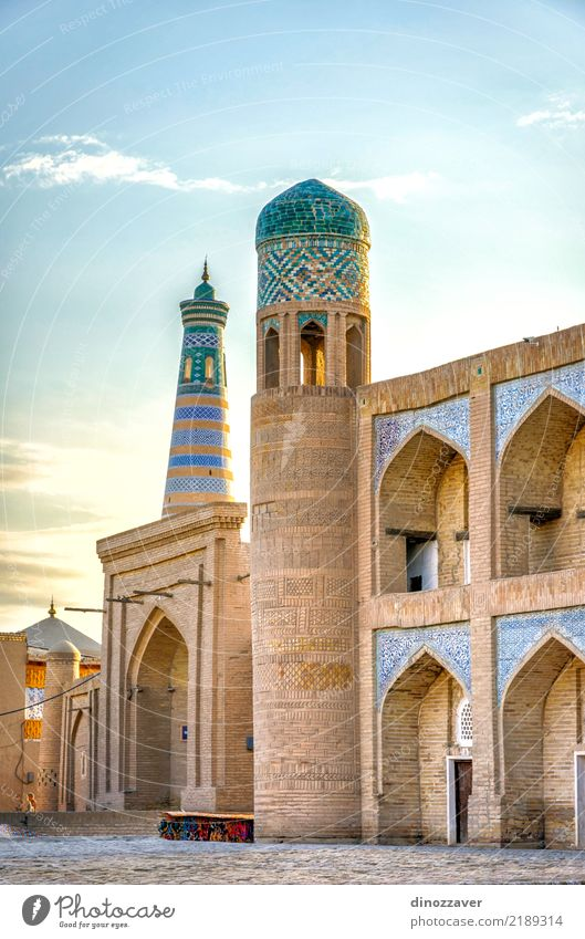 Khiva old town, Uzbekistan Style Design Tourism Decoration Art Town Old town Architecture Ornament Large Colour Religion and faith Tradition Islam Moslem