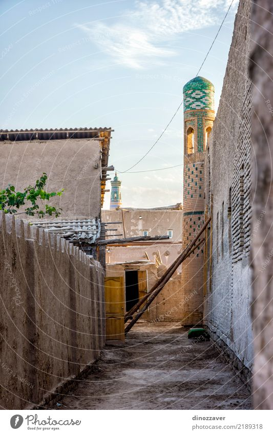 Streets of Khiva, Uzbekistan Style Design Tourism Decoration Art Town Downtown Old town Architecture Ornament Large Colour Religion and faith Tradition Islam