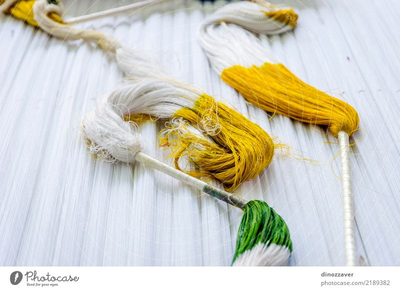 Traditional Uzbek silk dying process Design Industry Craft (trade) Art Culture Nature Cloth Worm Natural Soft Yellow Green White Colour Uzbekistan Asia arabic