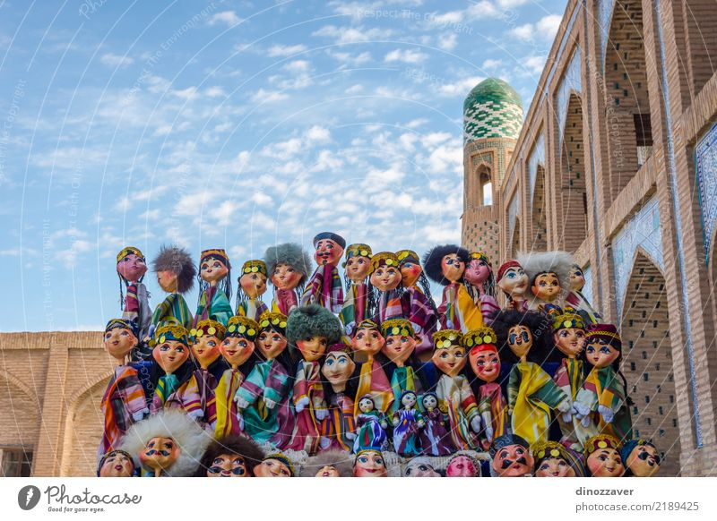 Uzbek puppets dressed in traditional clothes Human being Vacation & Travel Old Blue Architecture Religion and faith Style Building Art Tourism Fashion Design