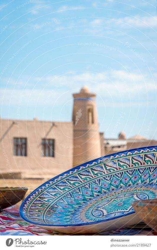 Ceramics in Khiva old town Old Blue Town Architecture Religion and faith Building Art Tourism Retro Decoration Culture Asia Turquoise Tradition Tile