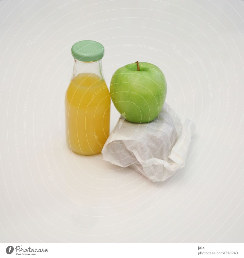 White Green Nutrition Yellow Healthy Food Fruit Beverage Break Simple Clean Apple Juice Breakfast Bottle Bread