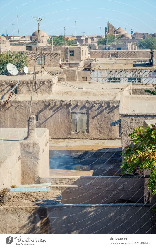 Khiva old town, Uzbekistan Style Design Decoration Town Downtown Old town Skyline Building Architecture Ornament Large Colour Religion and faith Tradition Islam