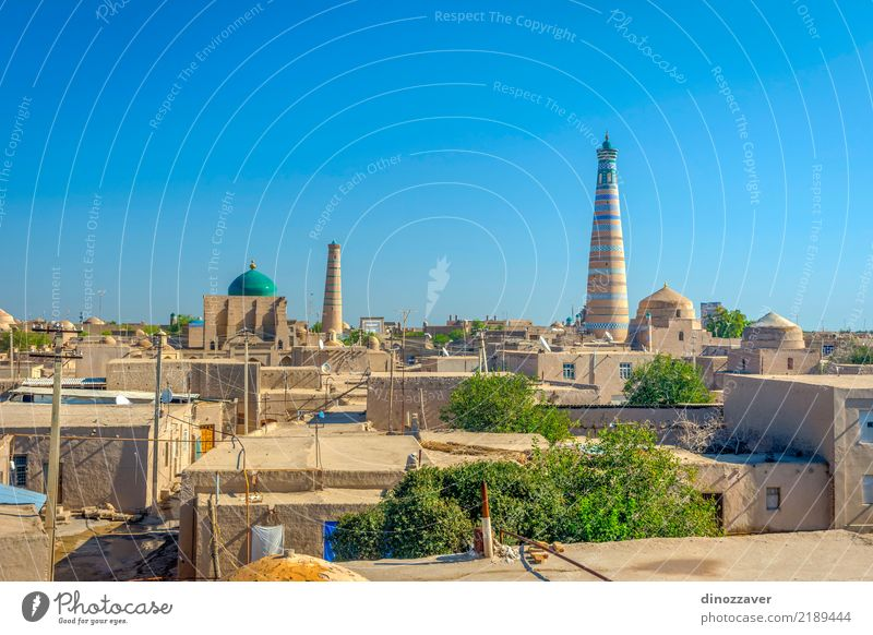Khiva old town, Uzbekistan Old Town Colour Architecture Religion and faith Style Building Design Decoration Vantage point Large Skyline Asia Old town Downtown