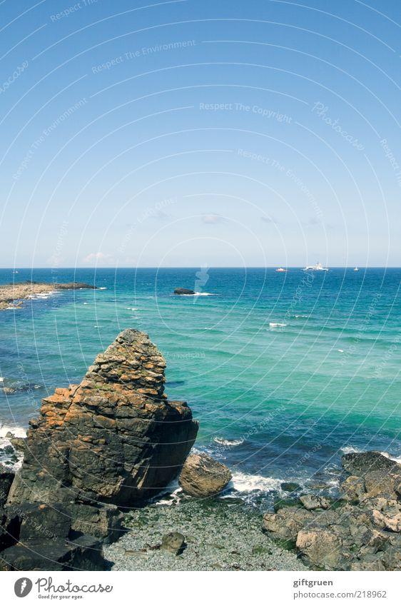 Nature Water Beautiful Sky Ocean Blue Beach Landscape Coast Waves Environment Horizon Rock Island Clean Natural